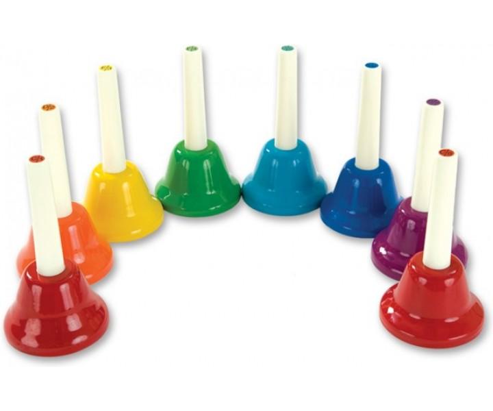 Sada barevných ručních zvonků