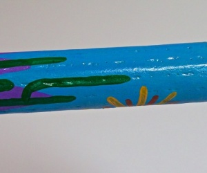 Deštná kaktusová hůl malovaná 75cm