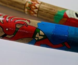 Deštná kaktusová hůl malovaná 150cm
