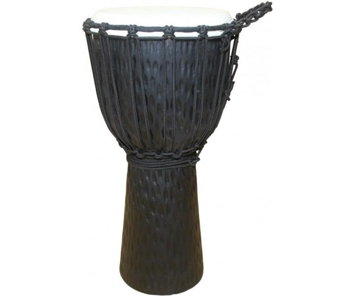 Vyřezávané djembe černé 40 cm