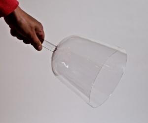 Čirá křišťálová mísa s držadlem 18 cm