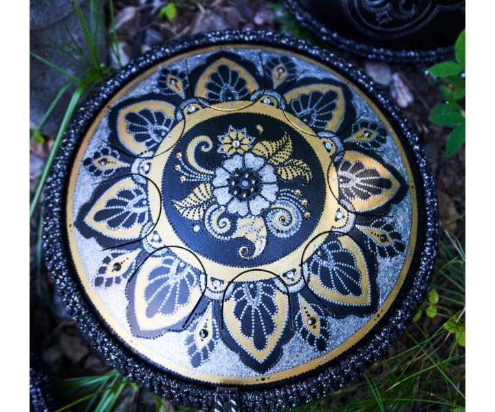 Guru drum zlatá mandala