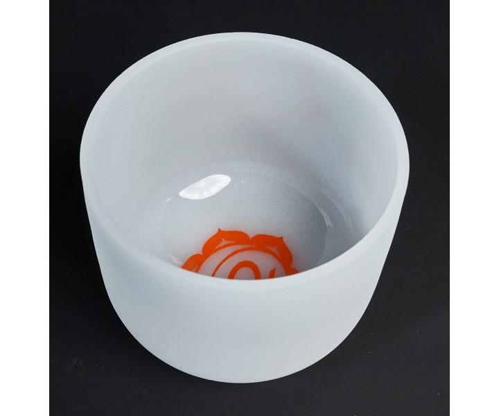 Bílá křišťálová mísa 20 cm I