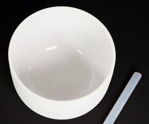 """Bílá křišťálová mísa 30 cm hluboké A """"třetí oko"""""""