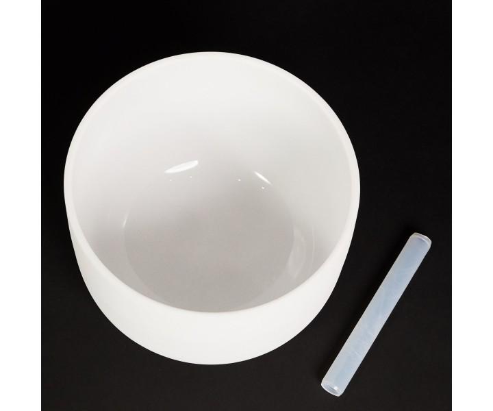 """Bílá křišťálová mísa 40 cm D """"voda"""""""