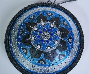 Guru drum modrá mandala