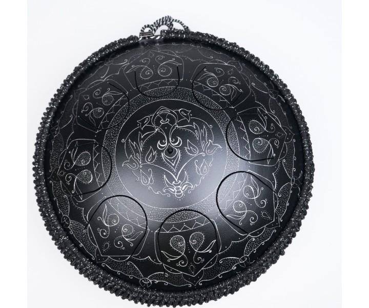 Guru drum černá mandala