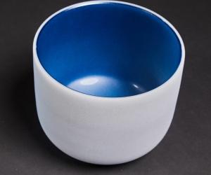 """Modrá křišťálová mísa G 25 cm  """"časoprostor"""""""