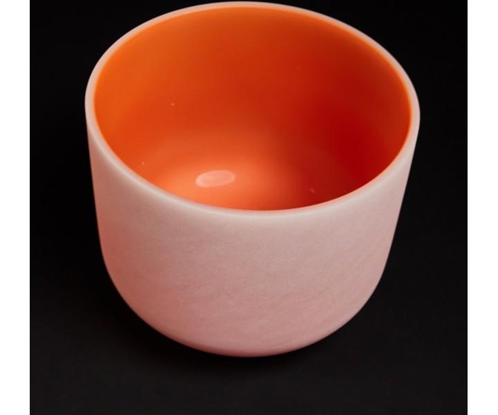"""Oranžová křišťálová mísa D 33 cm  """"voda"""" - kopie"""