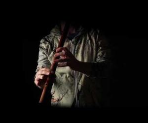 Meditační flétna Cis červená