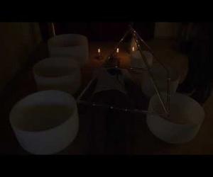 Křišťálová pyramida 45cm